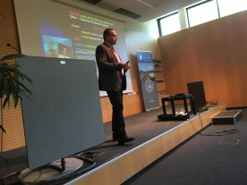 Dr. Bregni presenting at the E-Learning Conference at the University of Klagenfurt, Austria, June 6, 2018